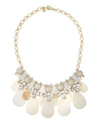 Lydell NYC | Metallic Crystal & Shell Bib Necklace | Lyst
