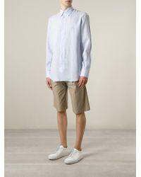 Ferragamo | Blue Button Down Shirt for Men | Lyst