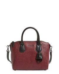 MICHAEL Michael Kors | Red Campbell Small Leather Satchel | Lyst