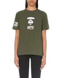 Aape - Natural Camo-back Cotton-jersey T-shirt - Lyst