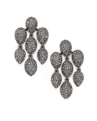 Adriana Orsini | Metallic Pavé Crystal Chandelier Earrings/gunmetal-tone | Lyst