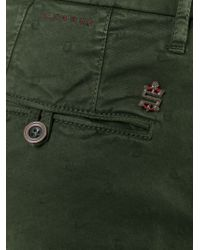 Incotex - Green Embroidered Chino Trousers for Men - Lyst