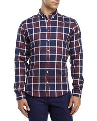 Moods Of Norway - Blue Arne Vik Plaid Button-Down Shirt for Men - Lyst