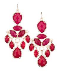 Kendra Scott | Red Mona Chandelier Earrings | Lyst