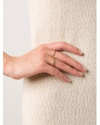 Kelly Wearstler - Metallic 'cabot' Two Finger Ring - Lyst