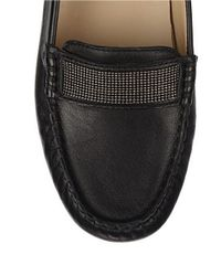 Franco Sarto | Black Mezza Leather Flats | Lyst