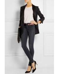Étoile Isabel Marant - Black Uma Embroidered Leather Belt - Lyst