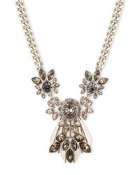 Givenchy | Metallic Floral Crystal Necklace, Goldtone for Men | Lyst