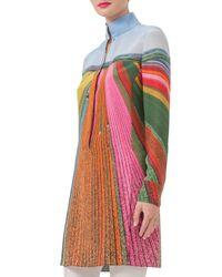 Akris - Multicolor Tulip-field Print Silk Tunic Blouse - Lyst