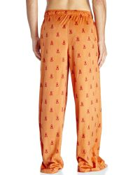 Psycho Bunny - Orange Logo Velour Pajama Pants for Men - Lyst