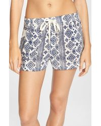 Lucky Brand | Blue 'boho' Sleep Shorts | Lyst