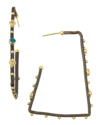 Armenta | Metallic Diamond and Opal Square Hoop Earrings | Lyst