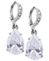 Givenchy | Metallic Crystal Teardrop Earrings | Lyst