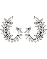 DANNIJO | Metallic Arabella Earrings | Lyst