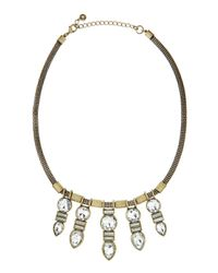 Lydell NYC - Metallic Five-Station Golden Oxidized Necklace - Lyst