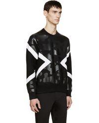 Neil Barrett - Black Neoprene Modernist Pullover for Men - Lyst