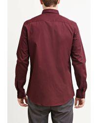 Forever 21 - Red Cotton-blend Pocket Shirt for Men - Lyst