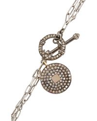 Carole Shashona Metallic Black Diamond Imperial Soul Horn Pendant Necklace