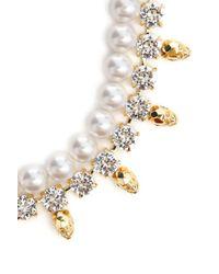 Joomi Lim - White Crystal W Skullpearl Necklace - Lyst