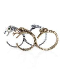 Pamela Love | Metallic Double Snake Ring | Lyst