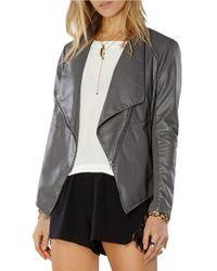 BB Dakota | Black Asymmetric Faux Leather Jacket | Lyst