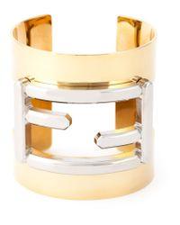 Fendi | Metallic 'baguette' Cuff | Lyst