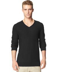 Calvin Klein Jeans | Black Slub Knit T Shirt for Men | Lyst