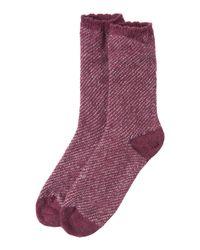Toast | Purple Jacquard Fleck Wool Socks | Lyst