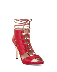 BCBGMAXAZRIA | Red Laila High-heel Lace-up Sandal | Lyst