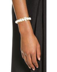Gabriela Artigas - White Cage Cuff Bracelet - Pearl/gold - Lyst