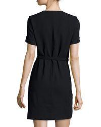 Étoile Isabel Marant - Black Kansas Tie-waist Wrap Dress - Lyst