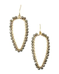 Wendy Mink - Metallic Gold And Pyrite Bead Drop Necklace - Lyst