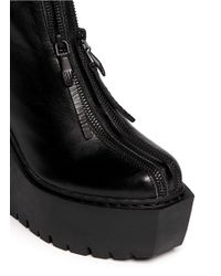 Opening Ceremony - Black 'luna' Double Zip Leather Boots - Lyst