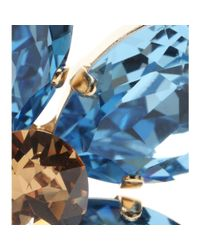 Dolce & Gabbana - Blue Embellished Clip-on Earrings - Lyst