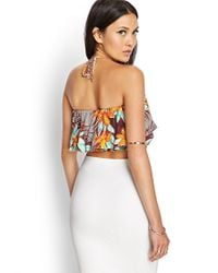 Forever 21 - Multicolor Tropical Floral Halter Top - Lyst