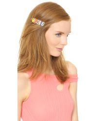 Moschino - Multicolor Hair Barrette - Multi - Lyst