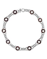 John Hardy - Metallic Link Station Sautoir Necklace With Rose Wood - Lyst
