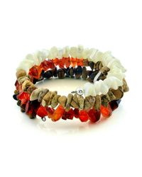 Lord & Taylor | Multicolor Mixed Stone Fragment Spiral Bracelet | Lyst