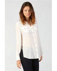True Religion | White Relaxed Silk Georgia Womens Shirt | Lyst