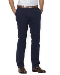 Polo Ralph Lauren | Blue Classic-Fit Flat-Front Chino Pants for Men | Lyst