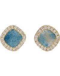 Monique Péan - Blue Diamond-framed Gilalite Studs - Lyst
