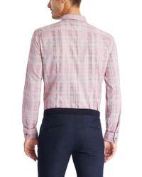 BOSS - Red 'nemos'   Slim Fit, Italian Cotton Button Down Shirt for Men - Lyst