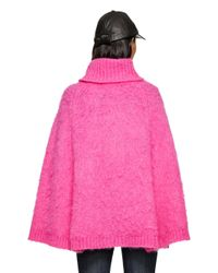Kate Spade | Pink Chunky Knit Sweater Cape | Lyst