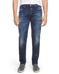 Hudson Jeans - Blue 'blake' Slim Fit Jeans for Men - Lyst