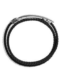 David Yurman - Frontier Feather Triple-wrap Bracelet In Black With Black Diamonds - Lyst