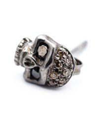 Roman Paul | Gray Skull Stud Earrings for Men | Lyst