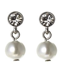 Givenchy | White Silver-Tone Faux Pearl Drop Earrings | Lyst