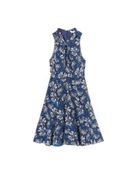 Rebecca Taylor | Blue Sleeveless Mystic Garden Print Twist Dress | Lyst