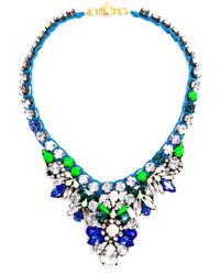 Shourouk | Pink Theresa Crystal Embellished Necklace | Lyst