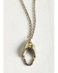 Zad Fashion Inc. | Metallic I'm Jaws Sayin' Necklace | Lyst